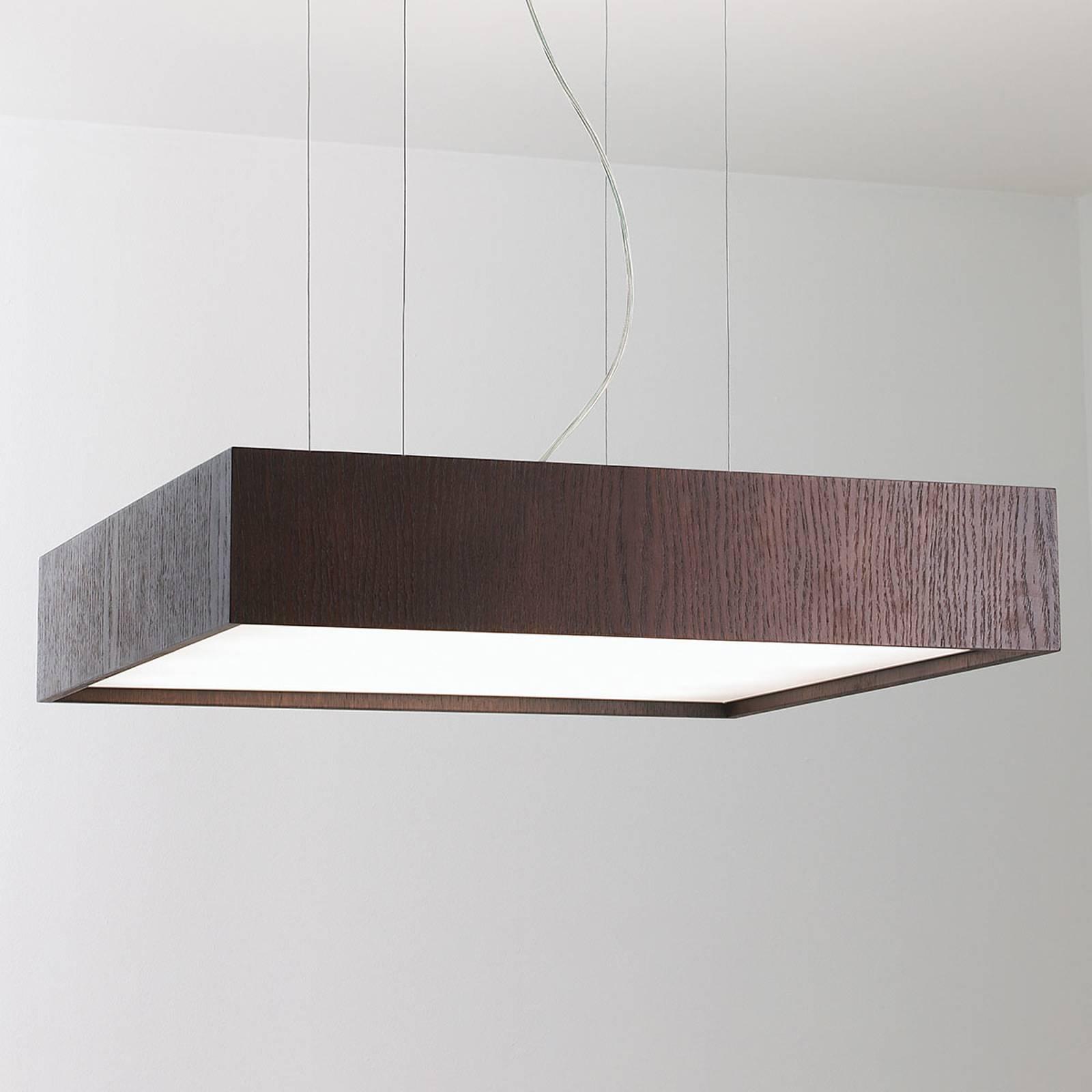 LED-Hängeleuchte Quadrat S 60x60, wenge