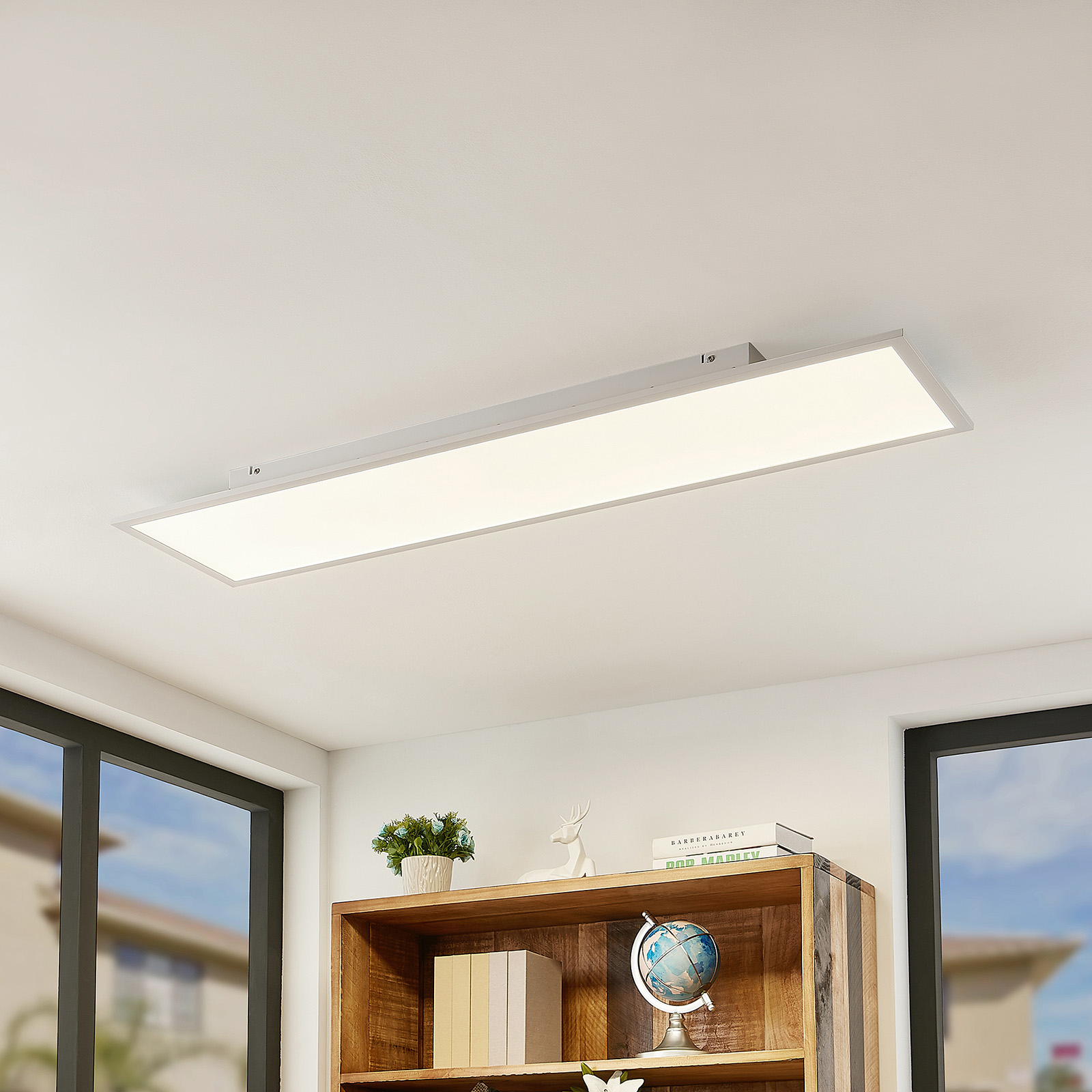 Lindby Quais LED-panel, 4000K, 30x120 cm