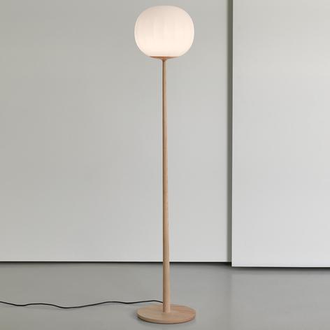 Luceplan Lita lámpara de pie, vidrio, fresno