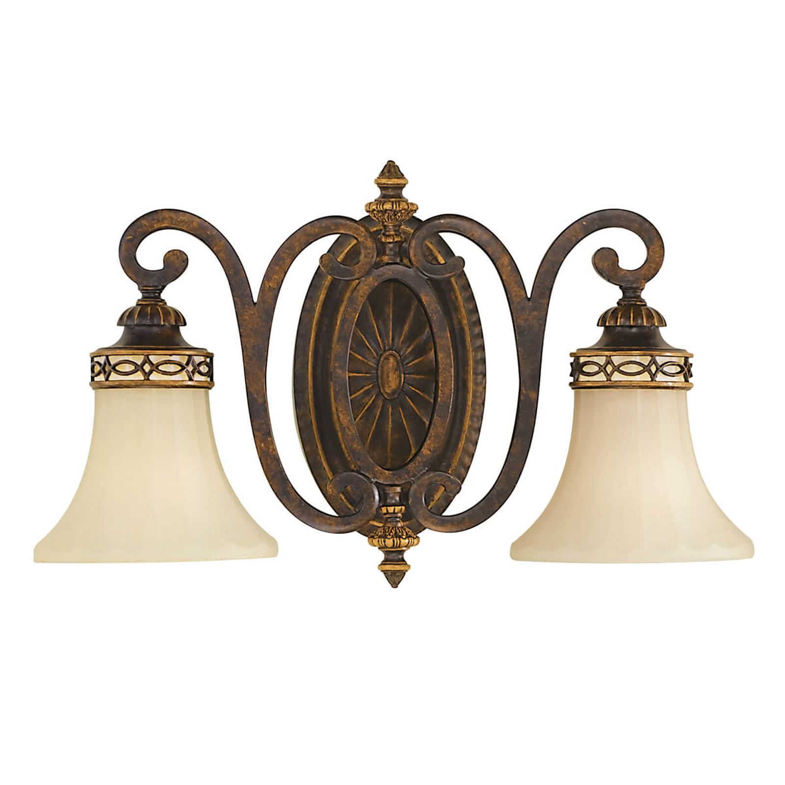 Vägglampa Drawing Room, 2 lampor, bred