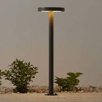 Iluminación senderos solar LED Linja redondo gris