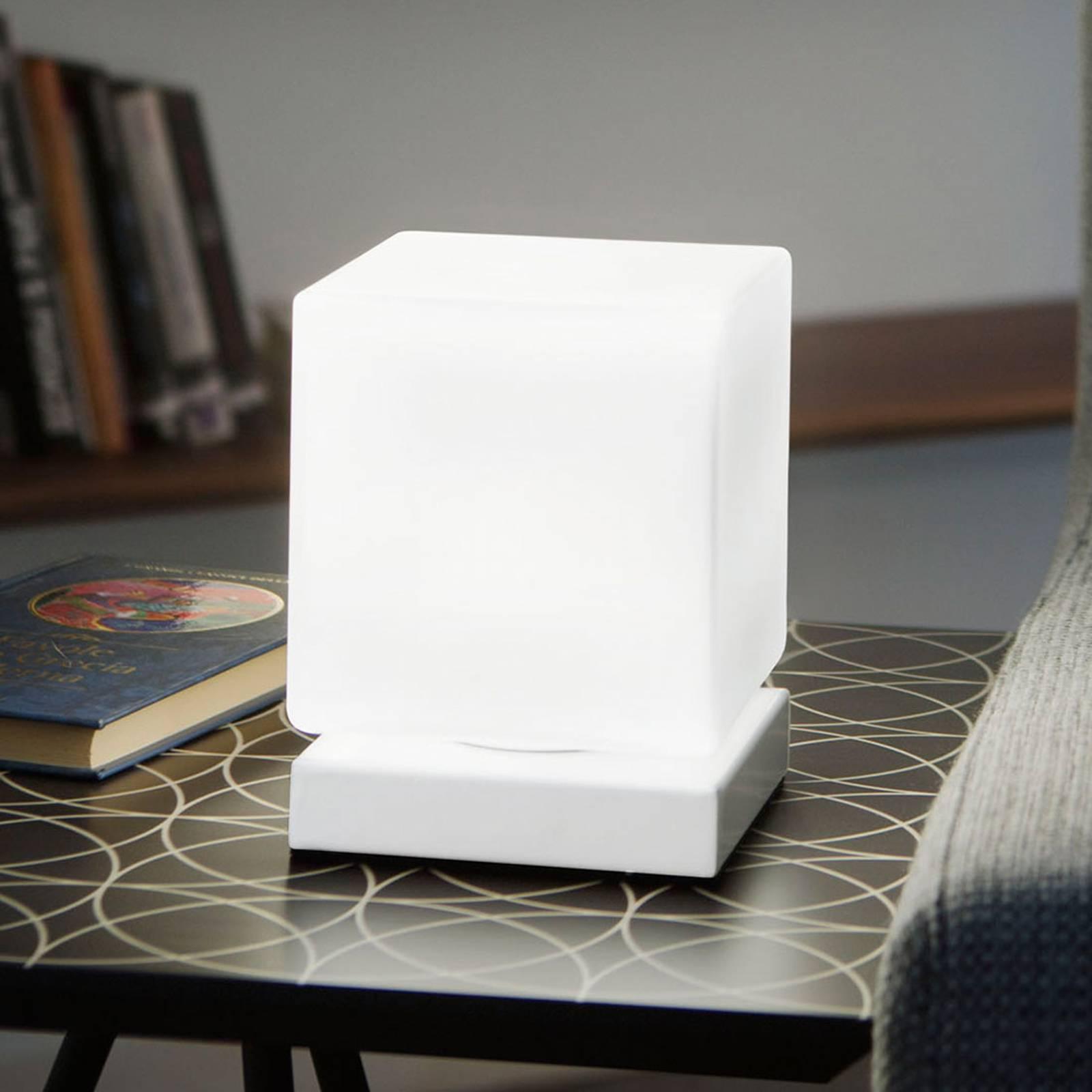 Lampe à poser LED Brenta blanche avec variateur