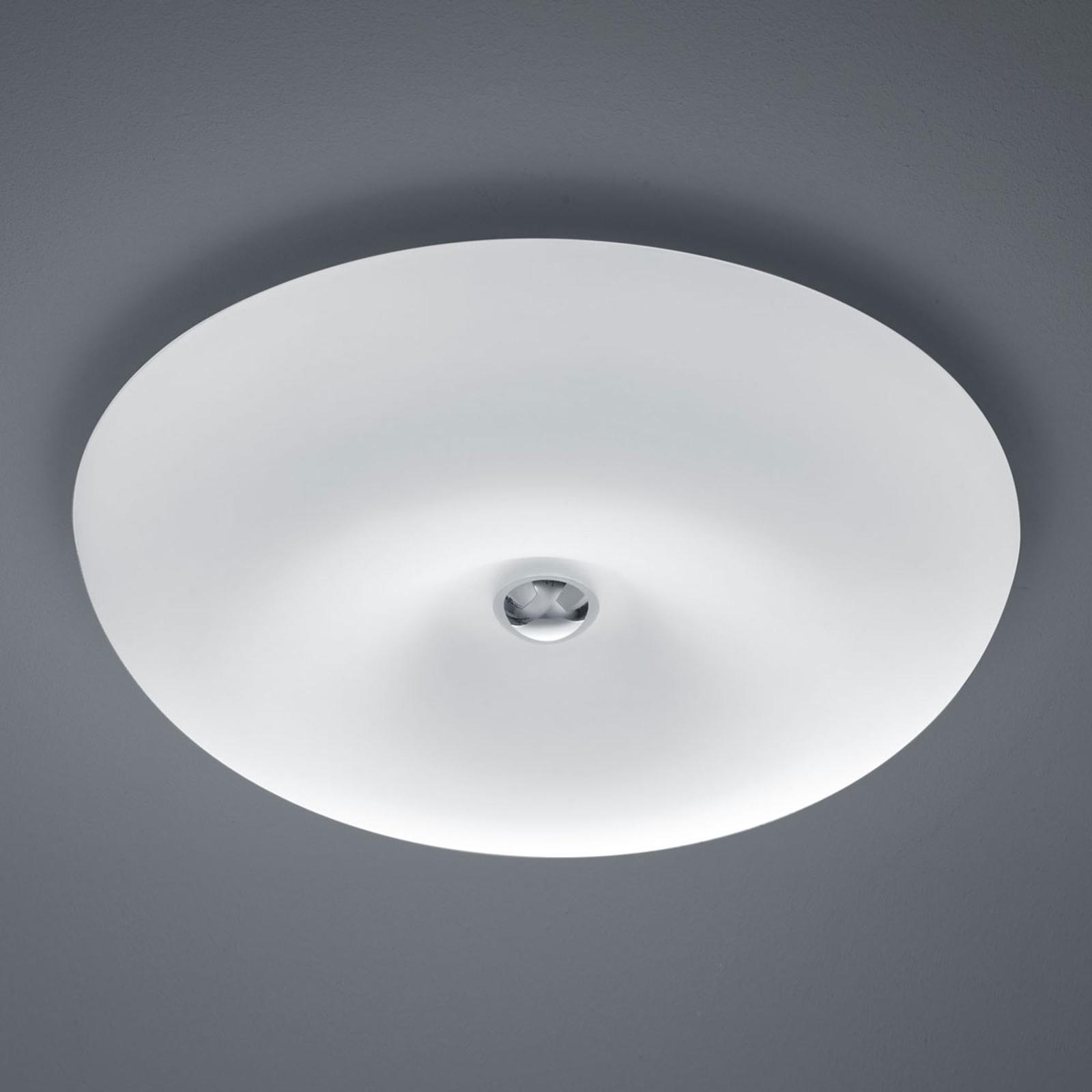 BANKAMP Vanity LED-loftlampe, glas, nikkel