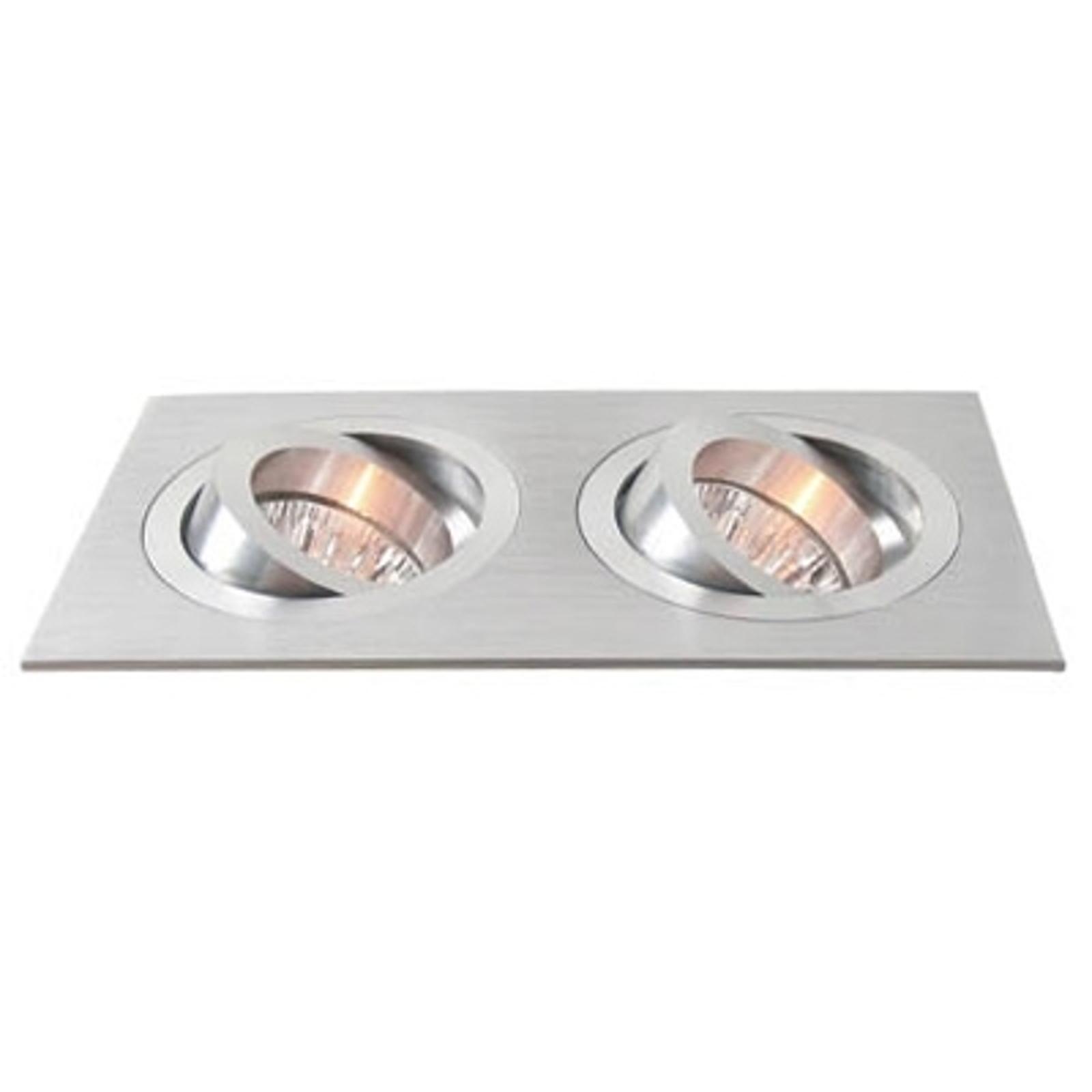 Svingbar monteringsring i aluminium og med to lys