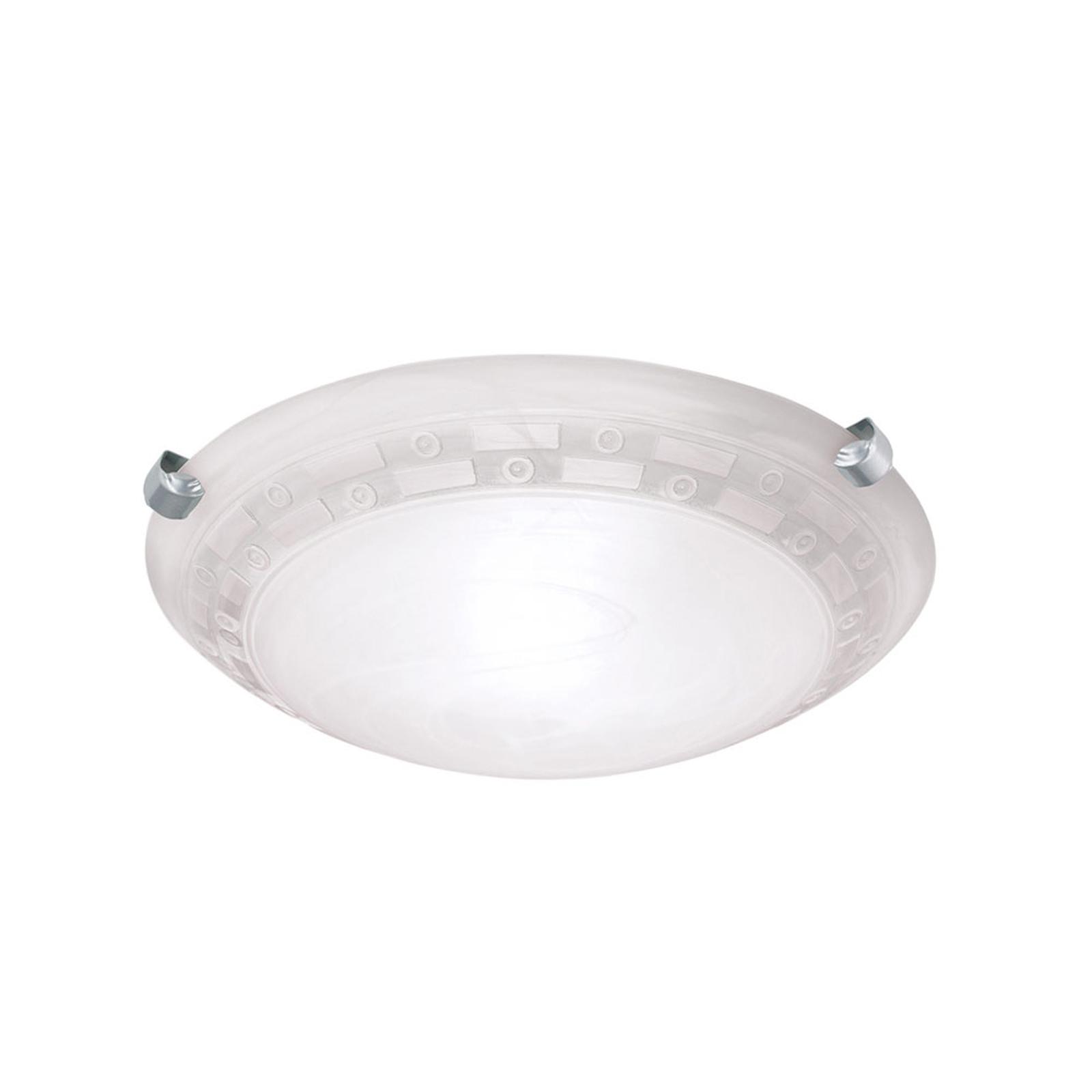 Taklampe Adonis, Ø 30 cm, hvit/nikkel