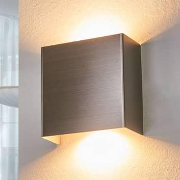 LED-vägglampa Manon, satinerat nickel, 10,5 cm