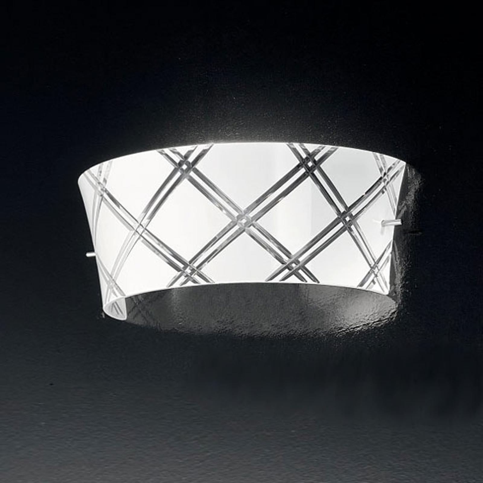 Elegant vegglampe CORALLO, 1 lys, hvit