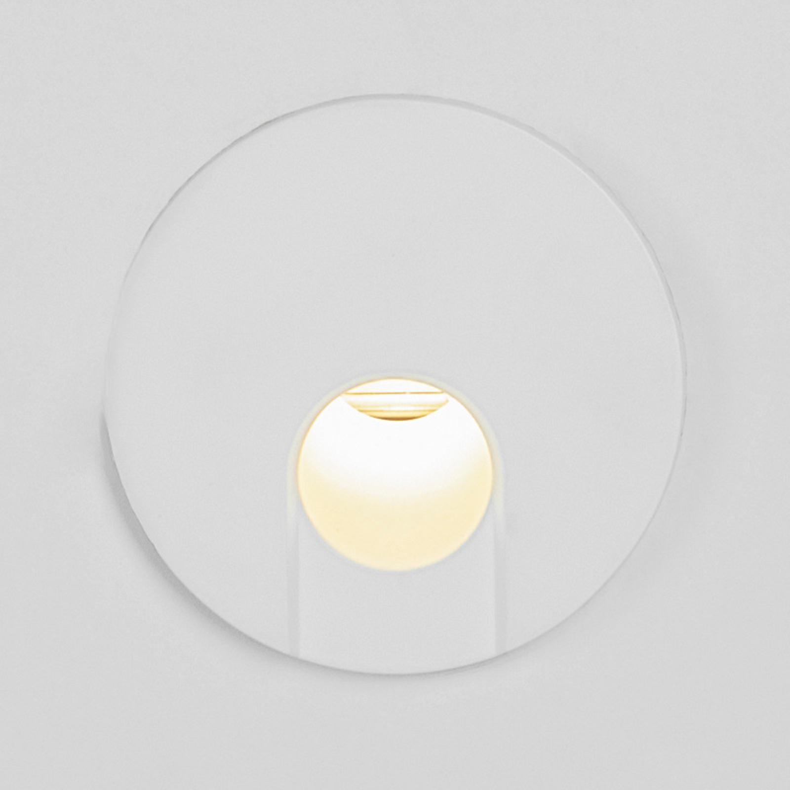BRUMBERG Wall Kit68 rückversetzt rund weiß