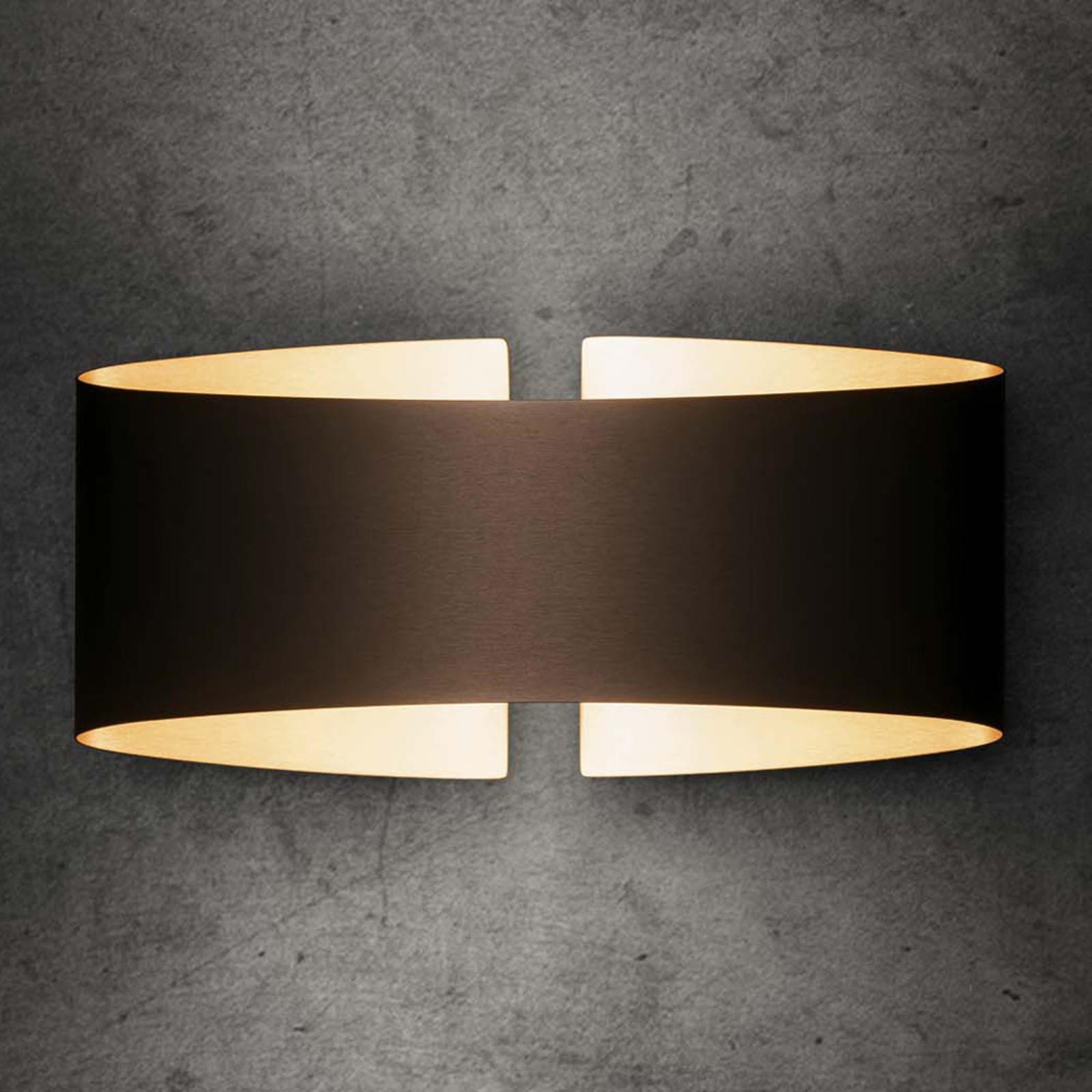 Holtkötter Voilà LED wandlamp, mat fumé