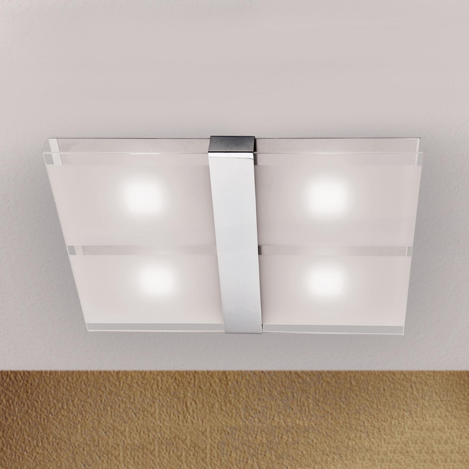 Jakob - LED-Deckenleuchte mit Chrom, 20 W