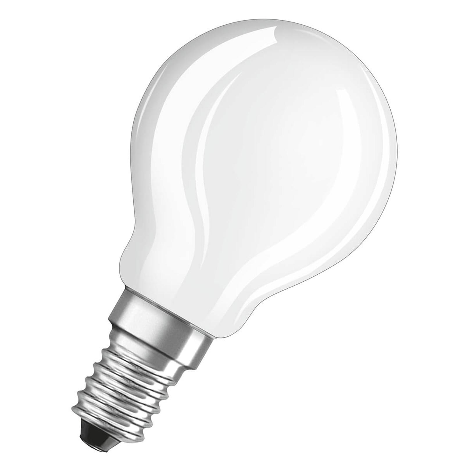 OSRAM LED-dråbepære E14 2,8W mat 4.000K, dæmpbar
