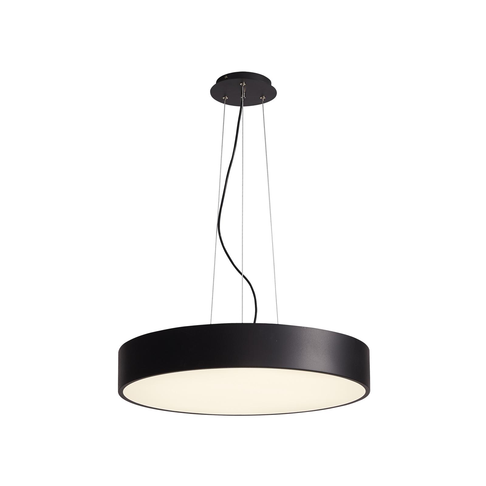 Arcchio Noabelle LED-hængelampe, sort, 80 cm