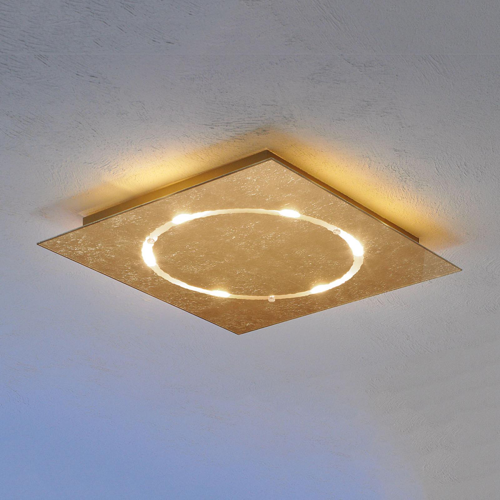 Dæmpbar Skyline LED-loftlampe med bladguld