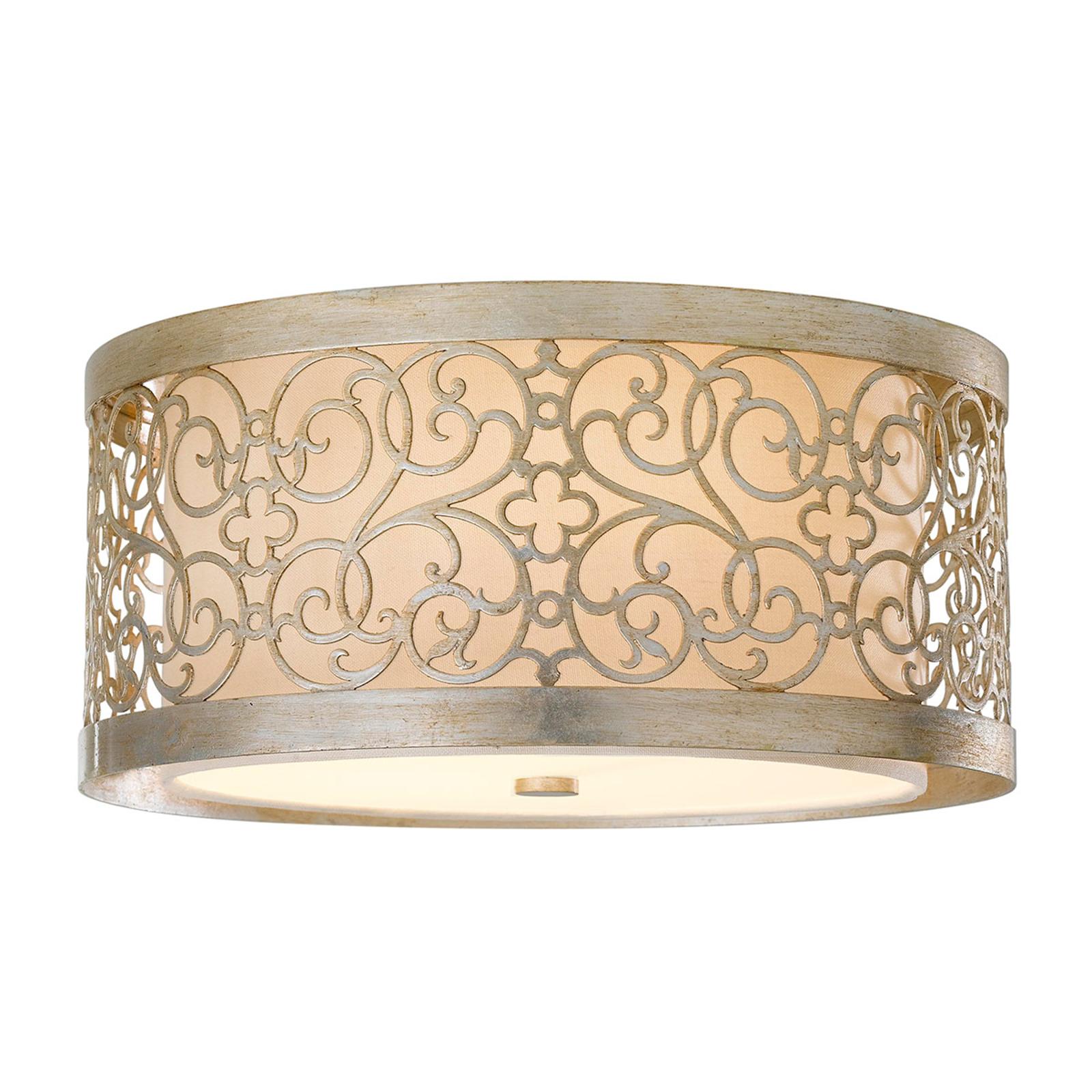 Plafondlamp Arabesque met dubbele kap