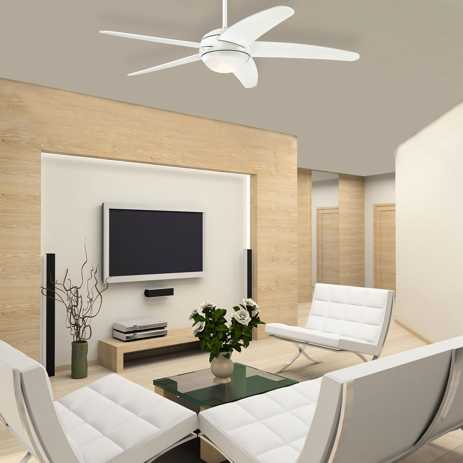 Westinghouse Bendan ventilateur LED, blanc