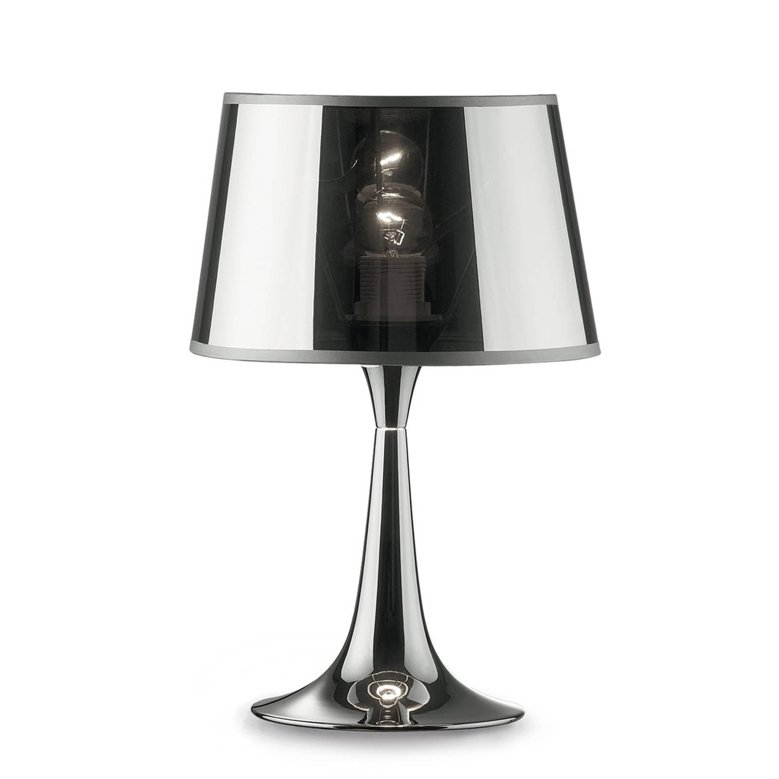 Lampe à poser London Cromo hauteur 36,5 cm