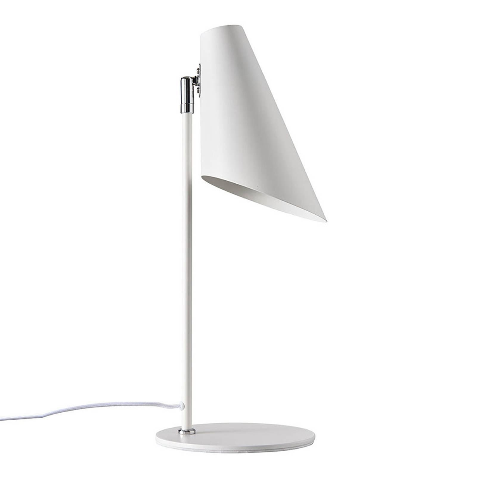 Dyberg Larsen Cale Tischleuchte aus Metall weiß