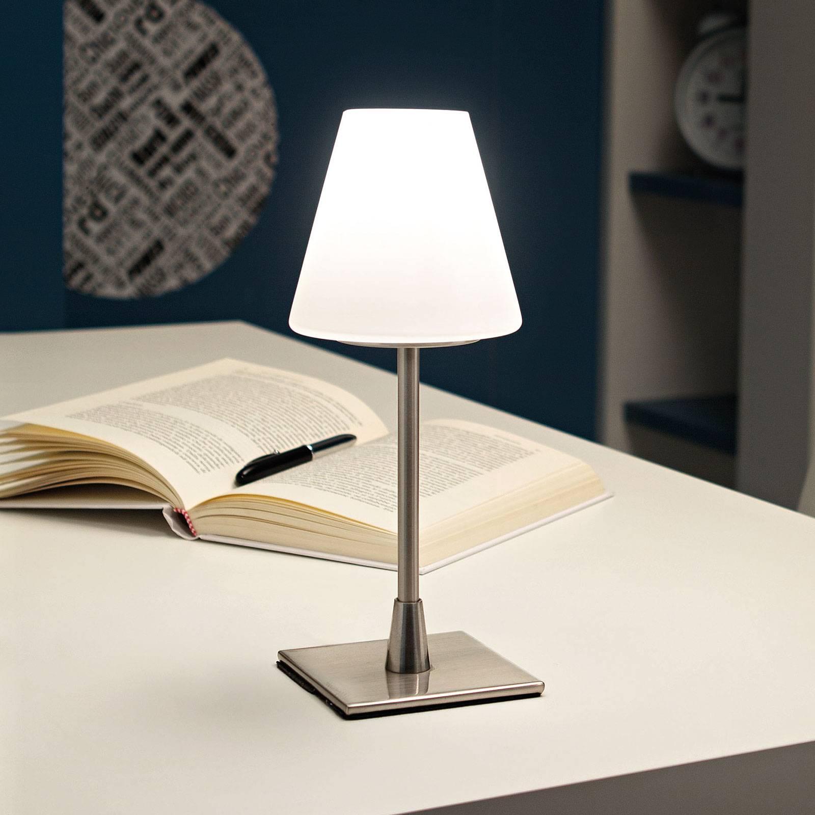 LED tafellamp Lucy met touchdimmer, chroom