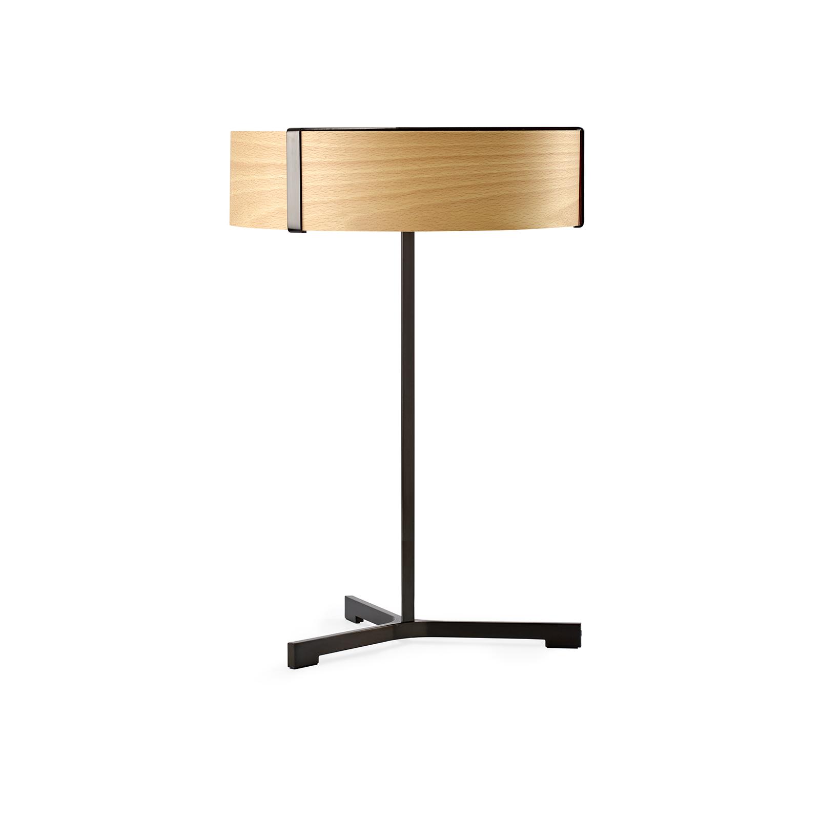 LZF Thesis LED da tavolo nero satinato/faggio