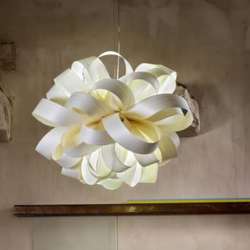 LZF Agatha Ball hanglamp, 84x80cm, van fineer