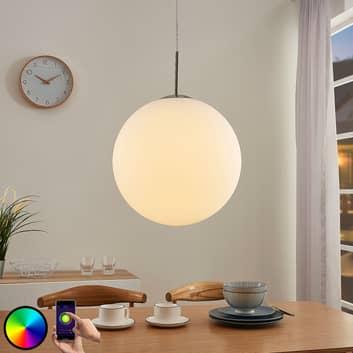 Lindby Smart LED-RGB-hanglamp Rhona, app