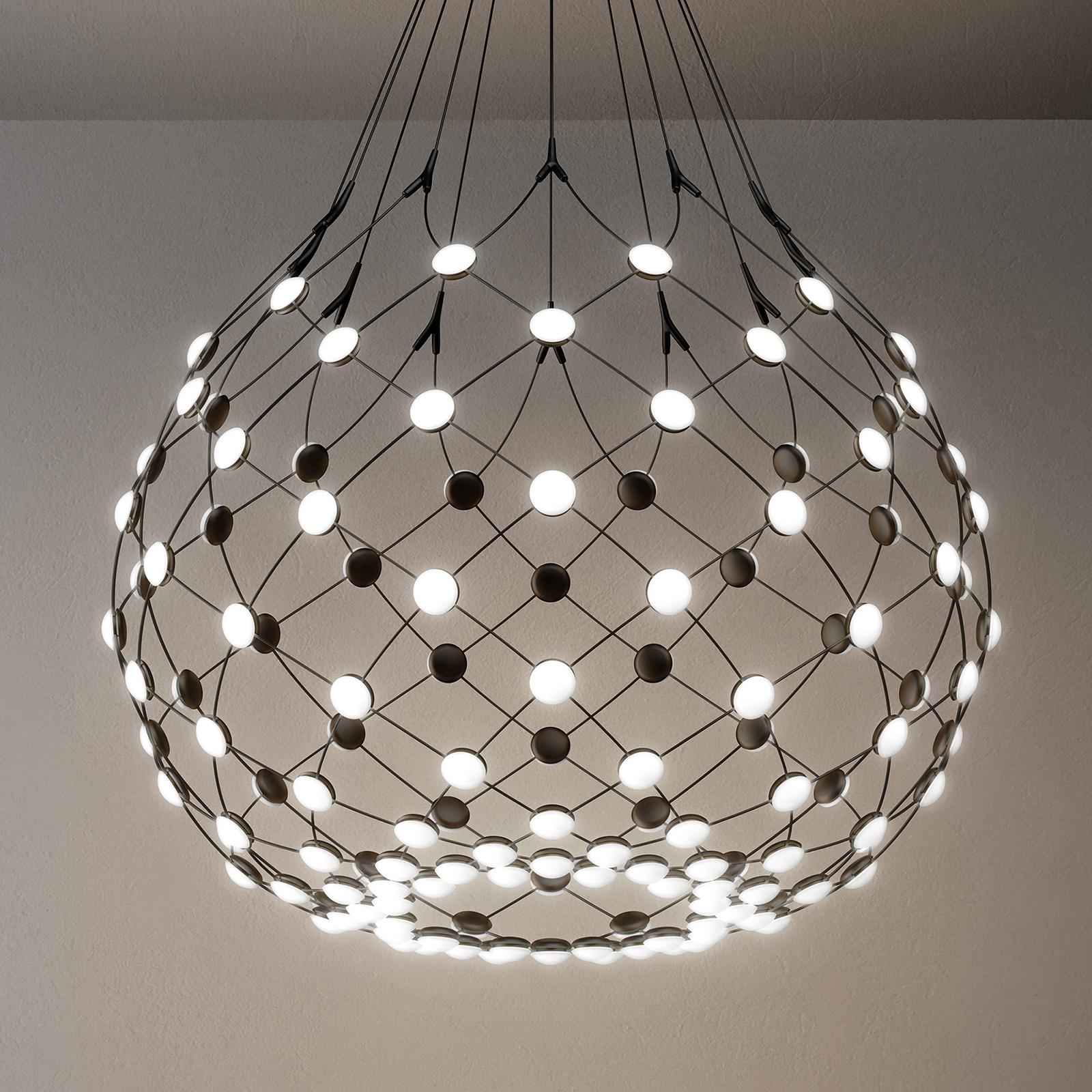 Luceplan Mesh LED-Hängelampe Ø 80cm 1m Abhängung