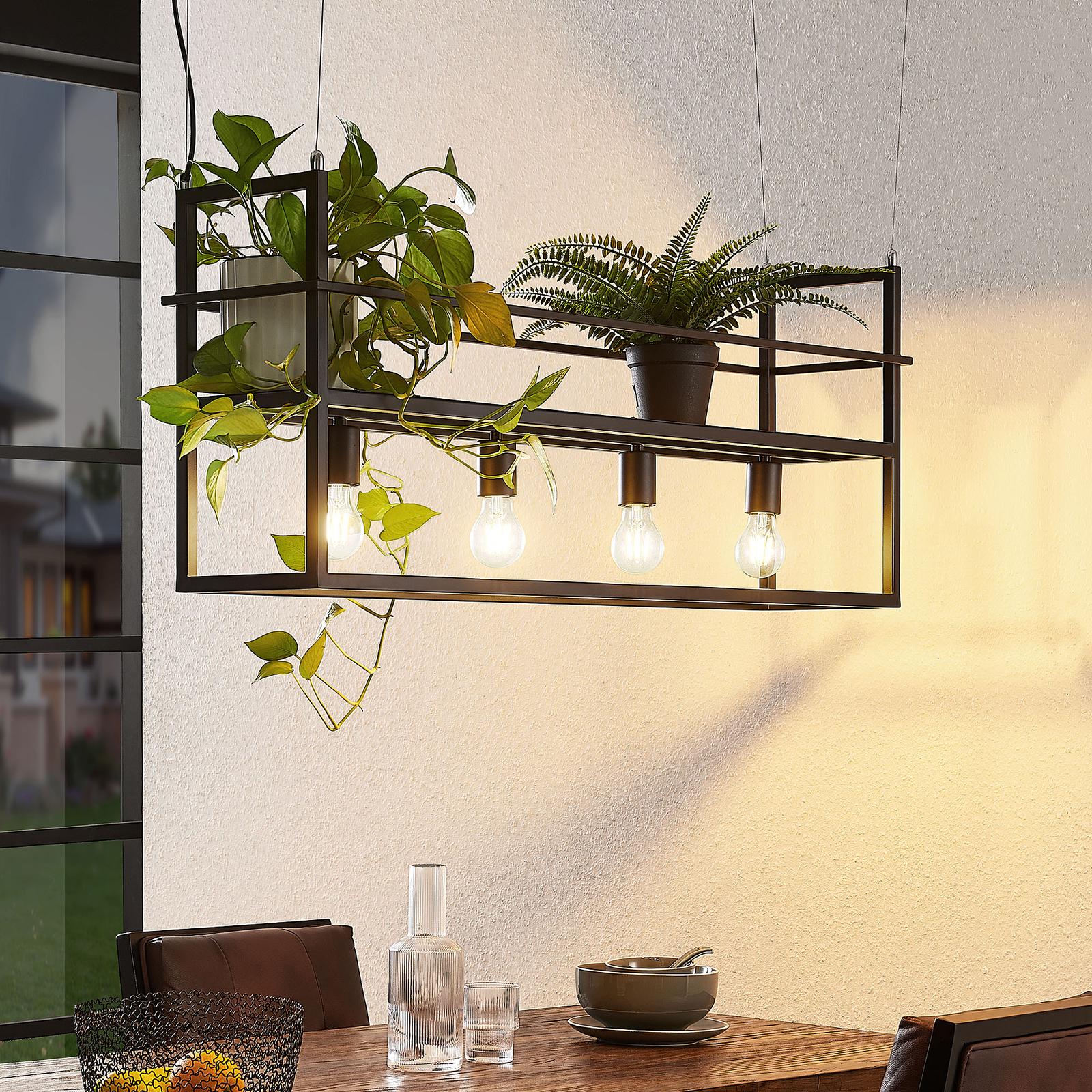 Lindby Grisela hængelampe, 4 lyskilder