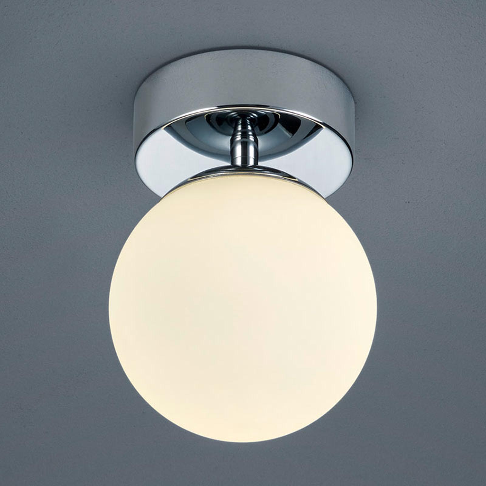 Okrągła szklana lampa sufitowa Keto, światło LED