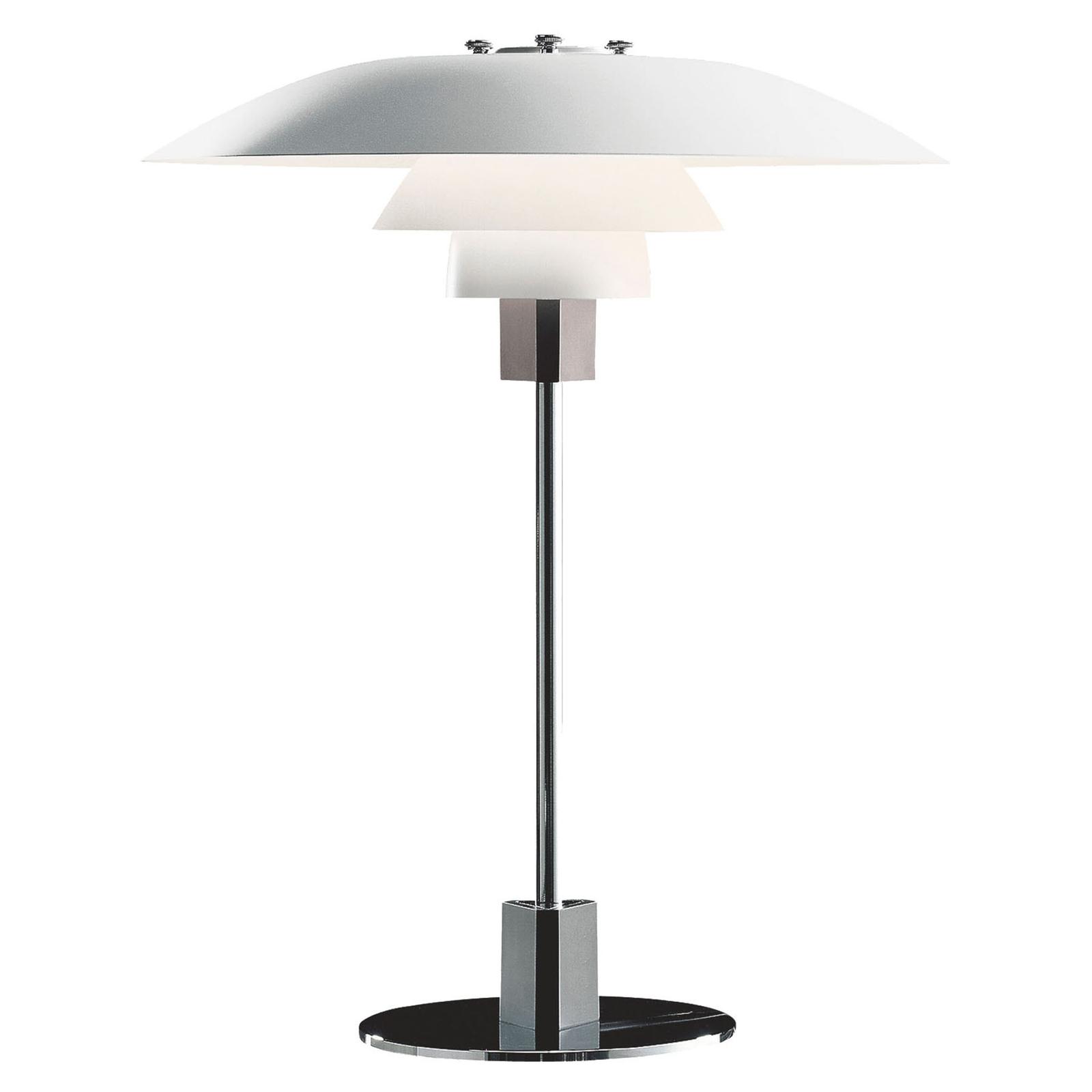 Louis Poulsen PH 4/3 bordlampe krom/hvid