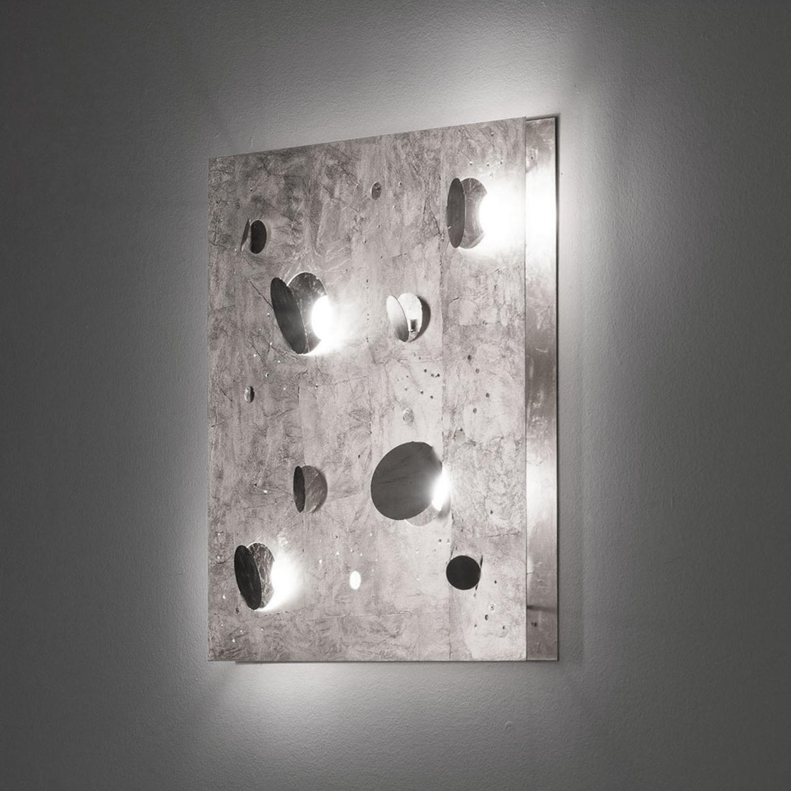 Knikerboker Buchi wandlamp 60x60cm bladzilver