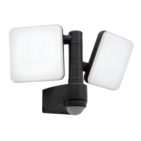 LED-utomhusvägglampa Jaro, sensor, 2 lampor