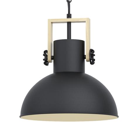 Lámpara colgante Lubenham con pantalla metálica