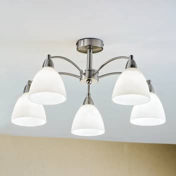 Fascinerende KINGA loftlampe i nikkel