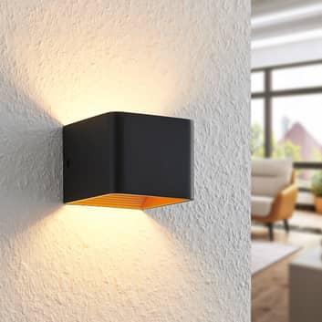 Arcchio Karam applique LED, 10 cm, nero