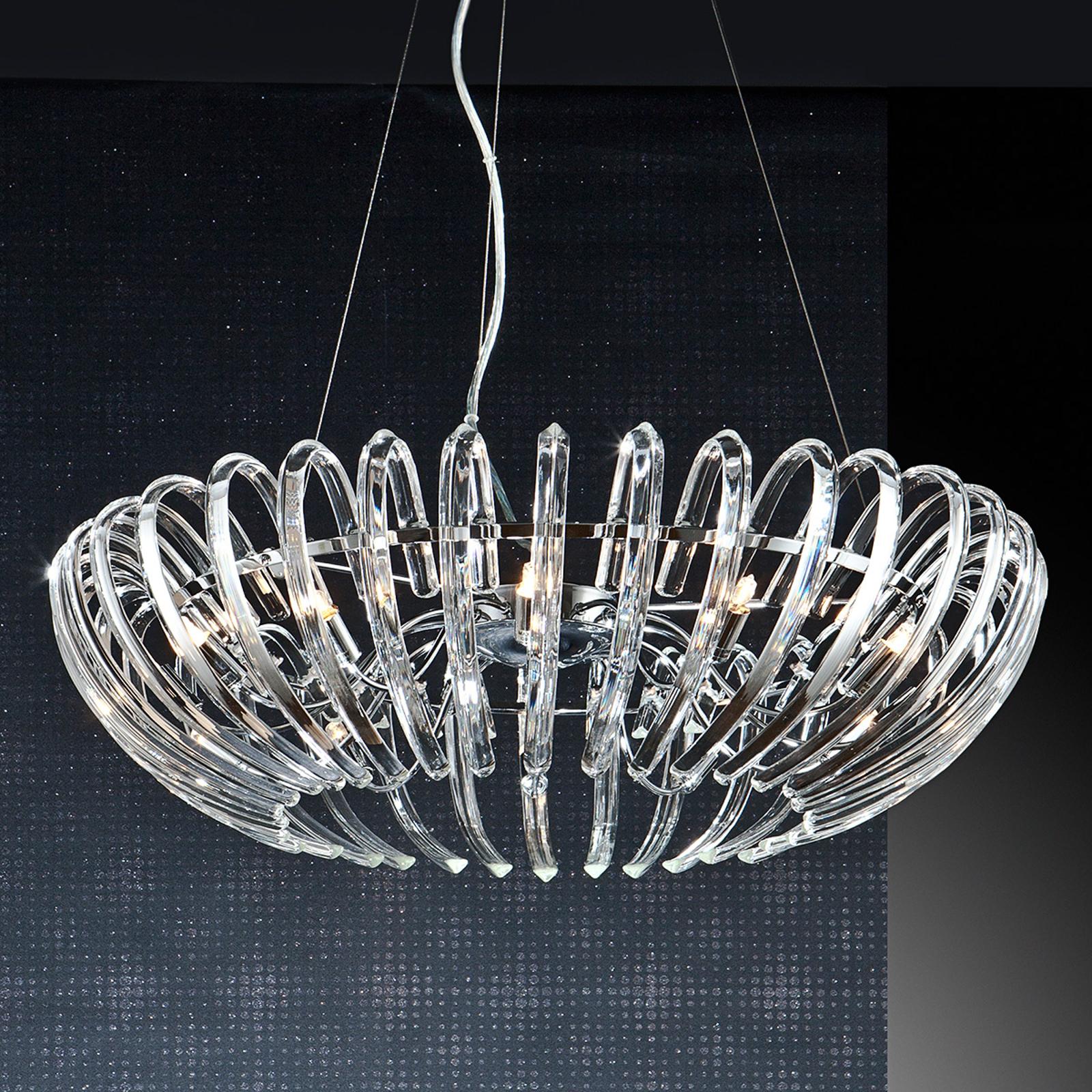 Kryształowa lampa wisząca ARIADNA, przezr., 66 cm