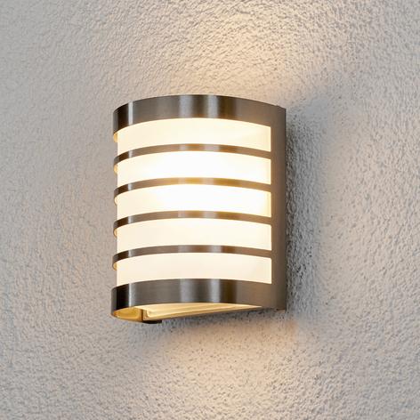 Lampada parete esterni Calin in acciaio inox