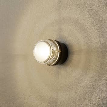 Oluce Fresnel - vägglampa med glaslins IP44
