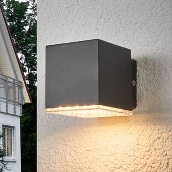 Mörkgrå LED-utomhusvägglampa Lydia