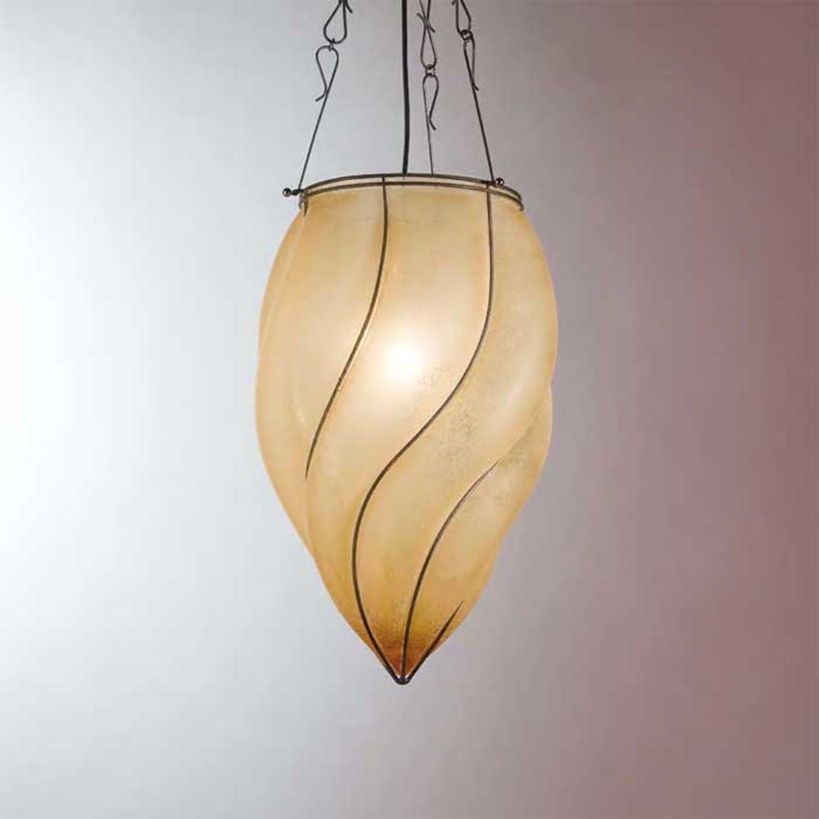 Czarująca lampa wisząca POZZO 26 cm