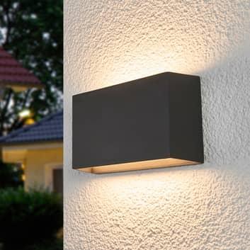 Selma - firkantet LED-utevegglampe, mørkegrå