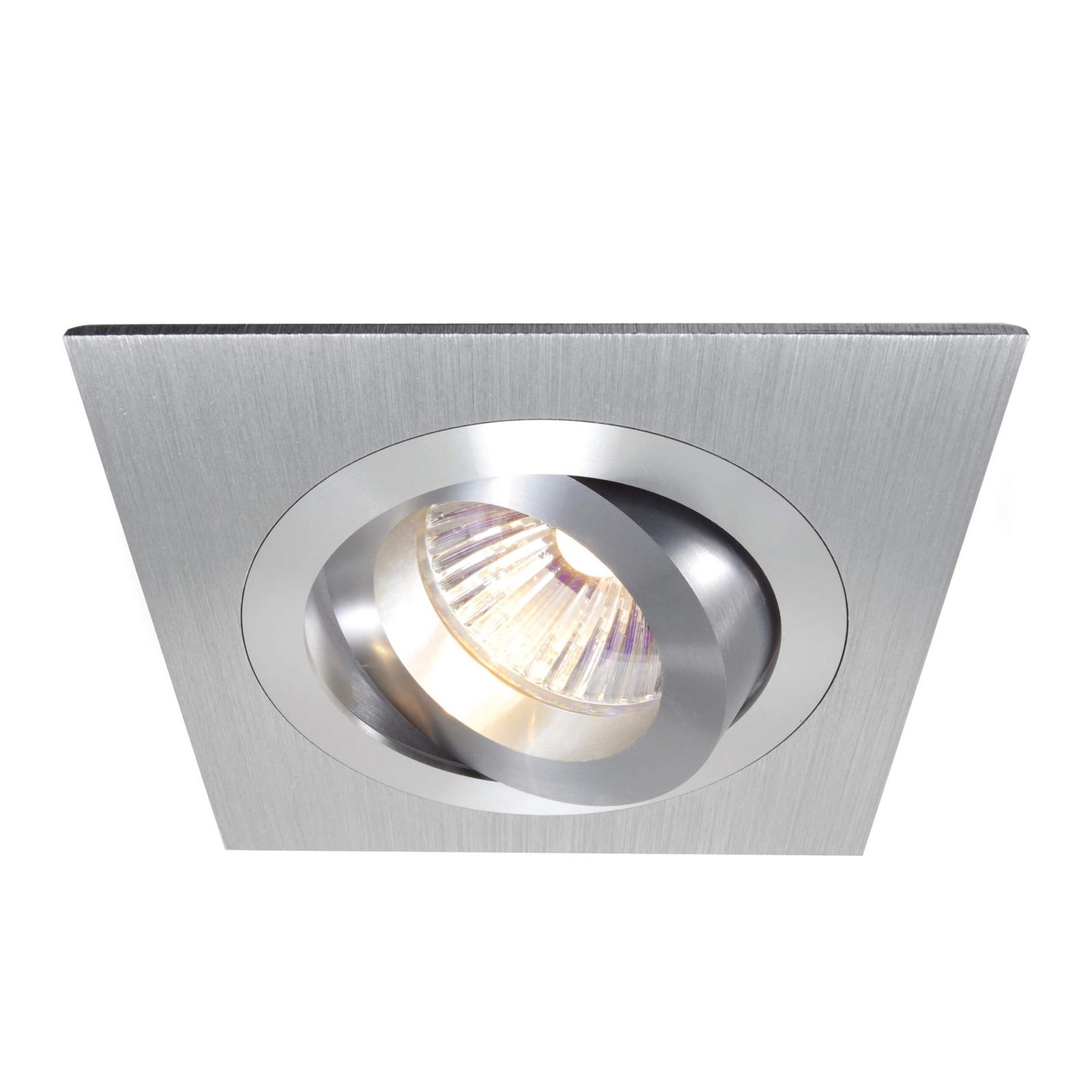 Alu anneau encastré inclinable, 9,2x9,2cm alu