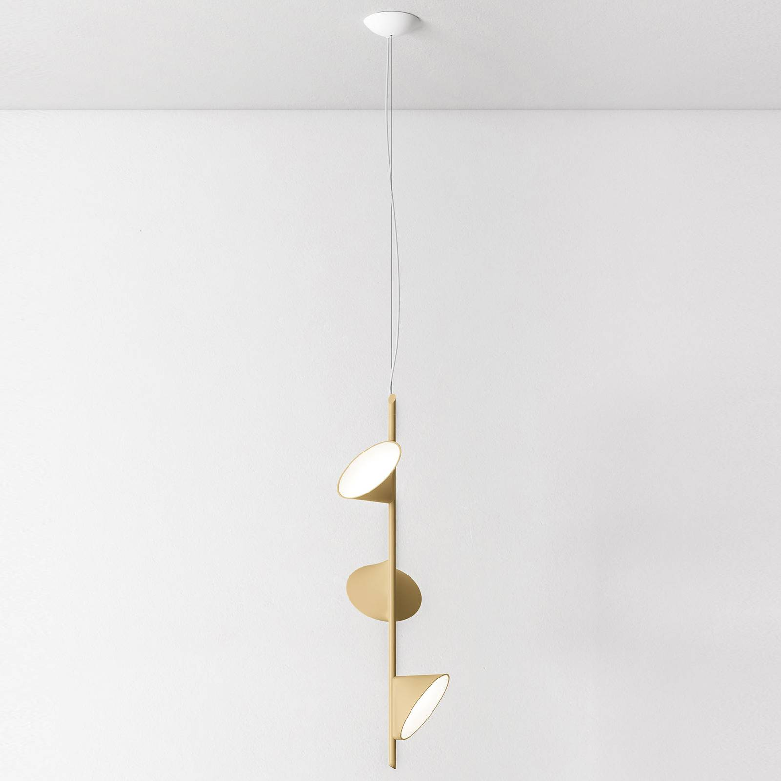 Axolight Orchid LED hanglamp, 3-lamps zand