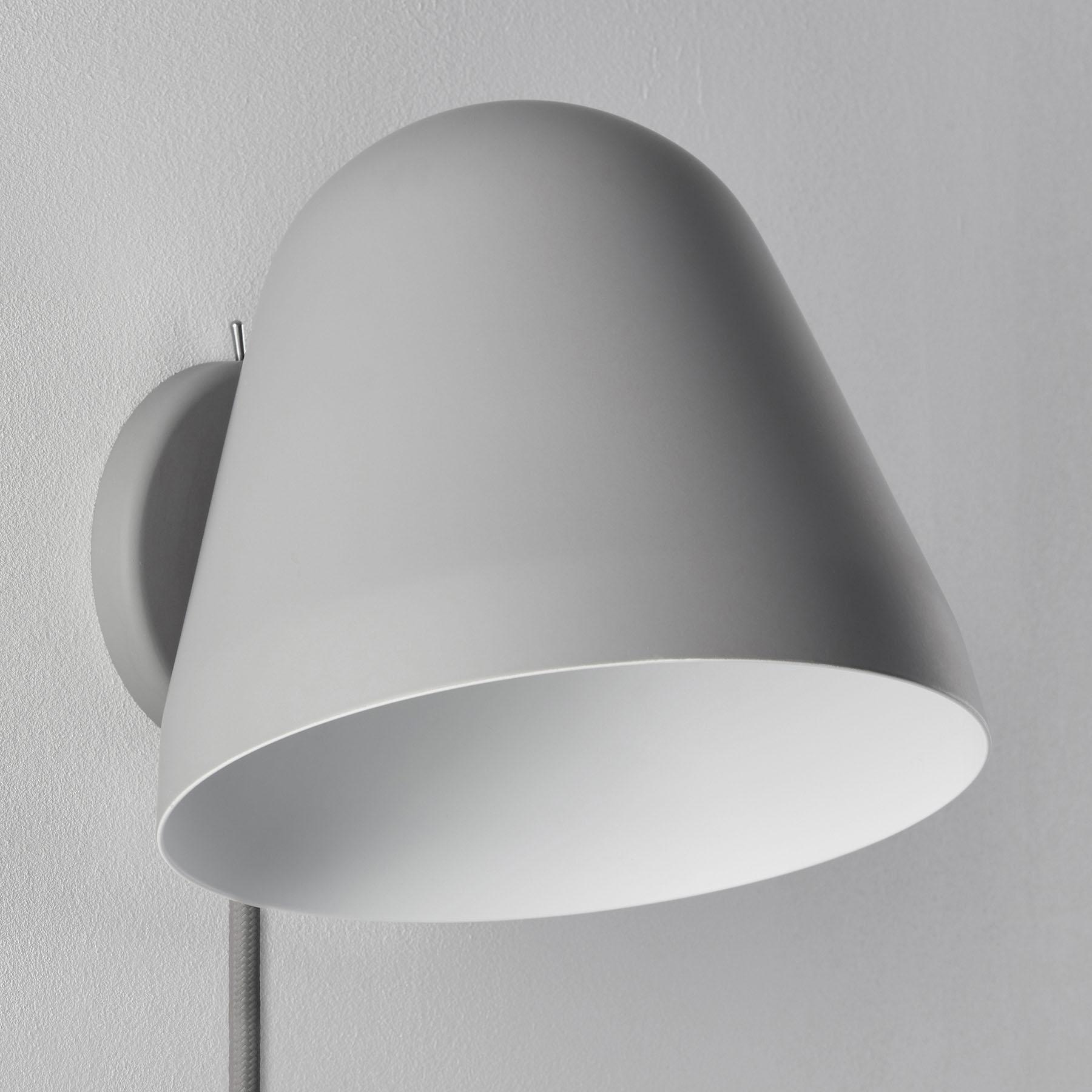 Nyta Tilt Wall Short wandlamp met kabel, grijs