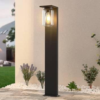 Lucande Semka gatelampe, 90 cm, mørkegrå