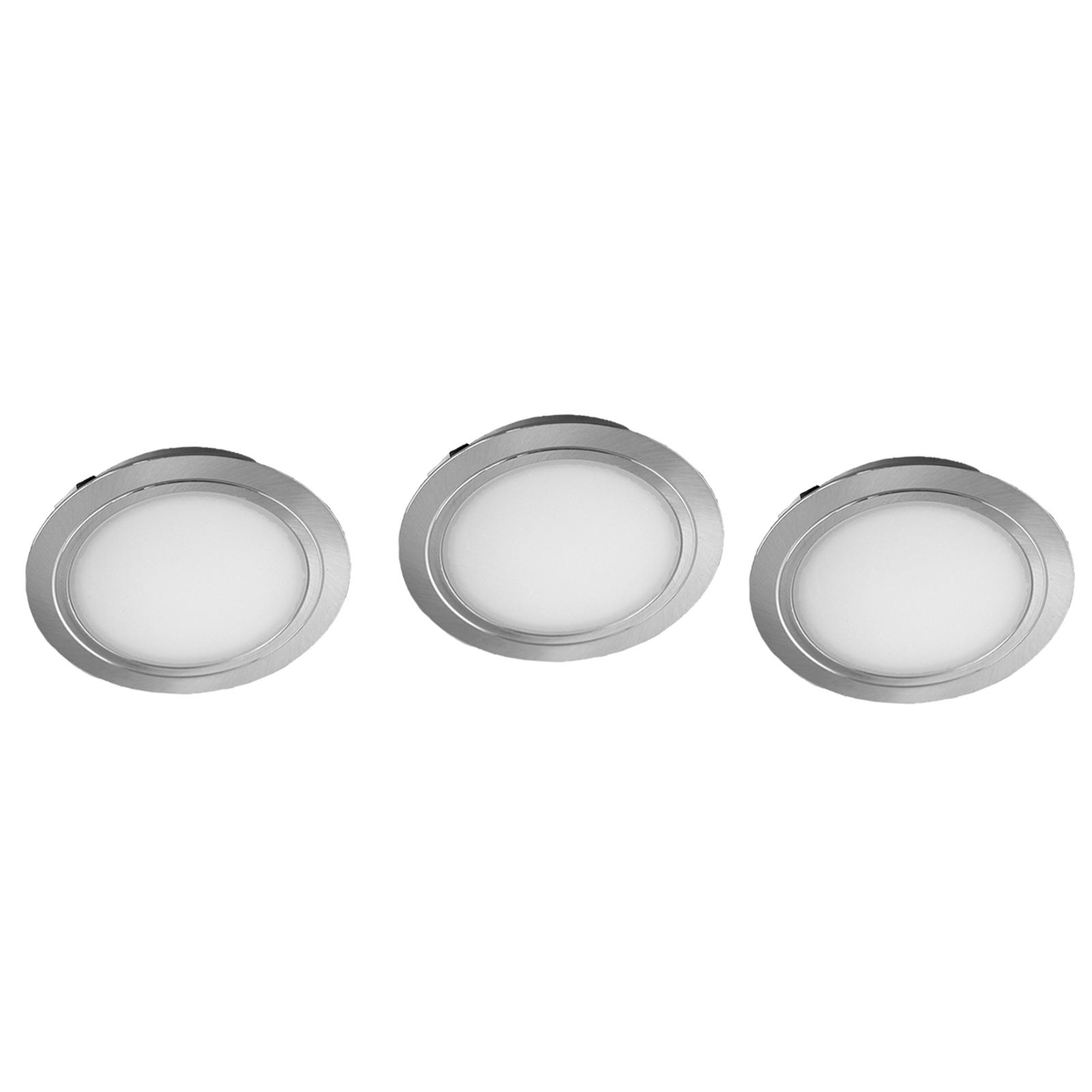 Set de 3 spots encastrables LED Cubic 68 CF