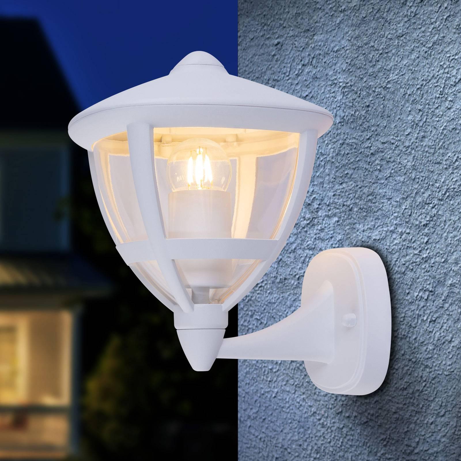 Buitenwandlamp Nollo staand met IP44, wit