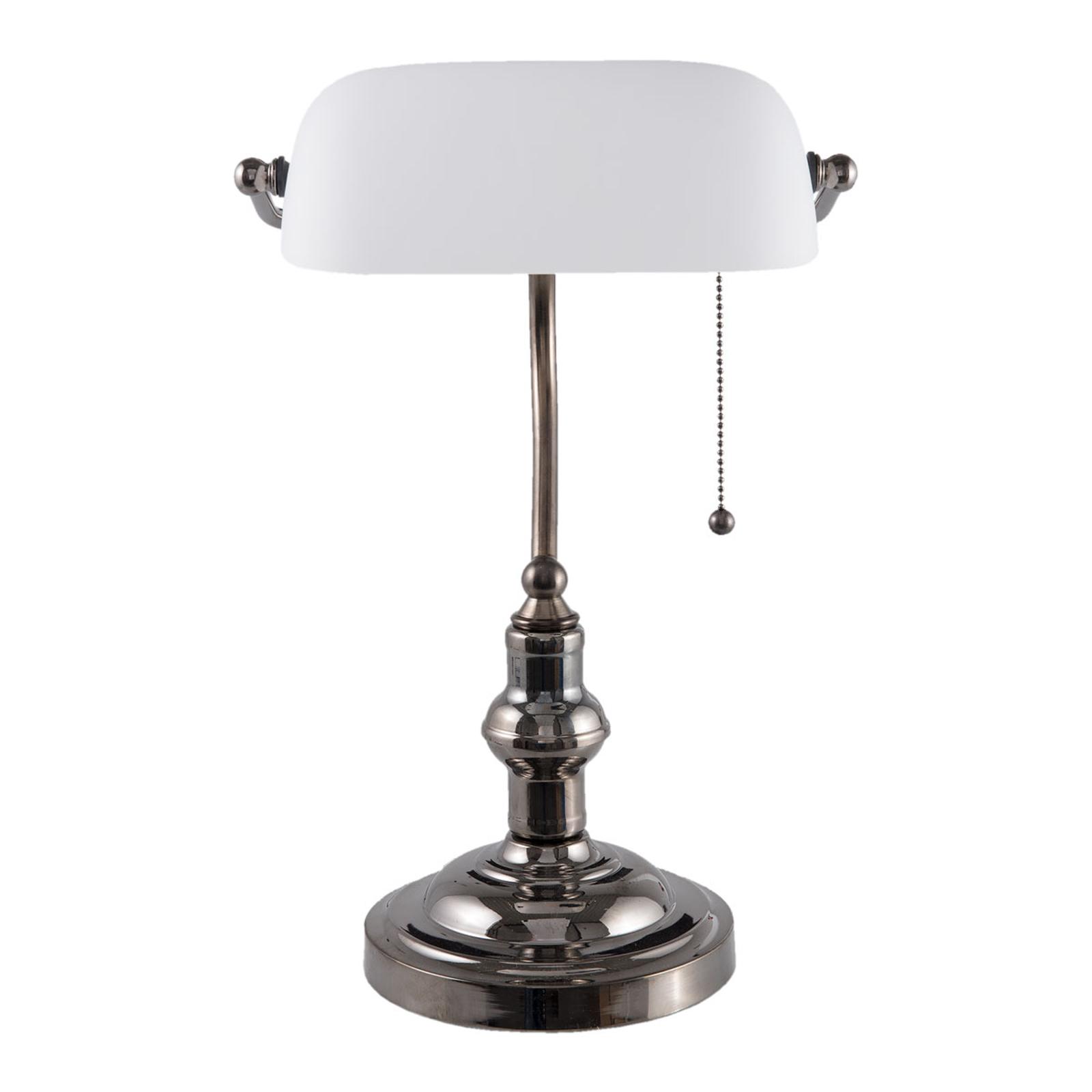 Lampe de bureau 5100W abat-jour en verre blanc
