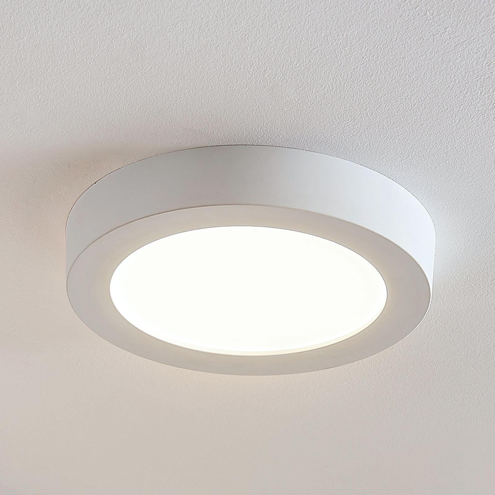 Plafón LED Marlo blanco 3000K redonda 25,2 cm