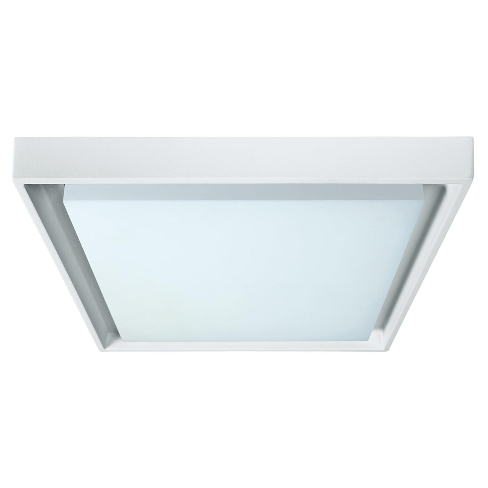 Lampa sufitowa zewnętrzna LED IP54 biała 27 x 27cm