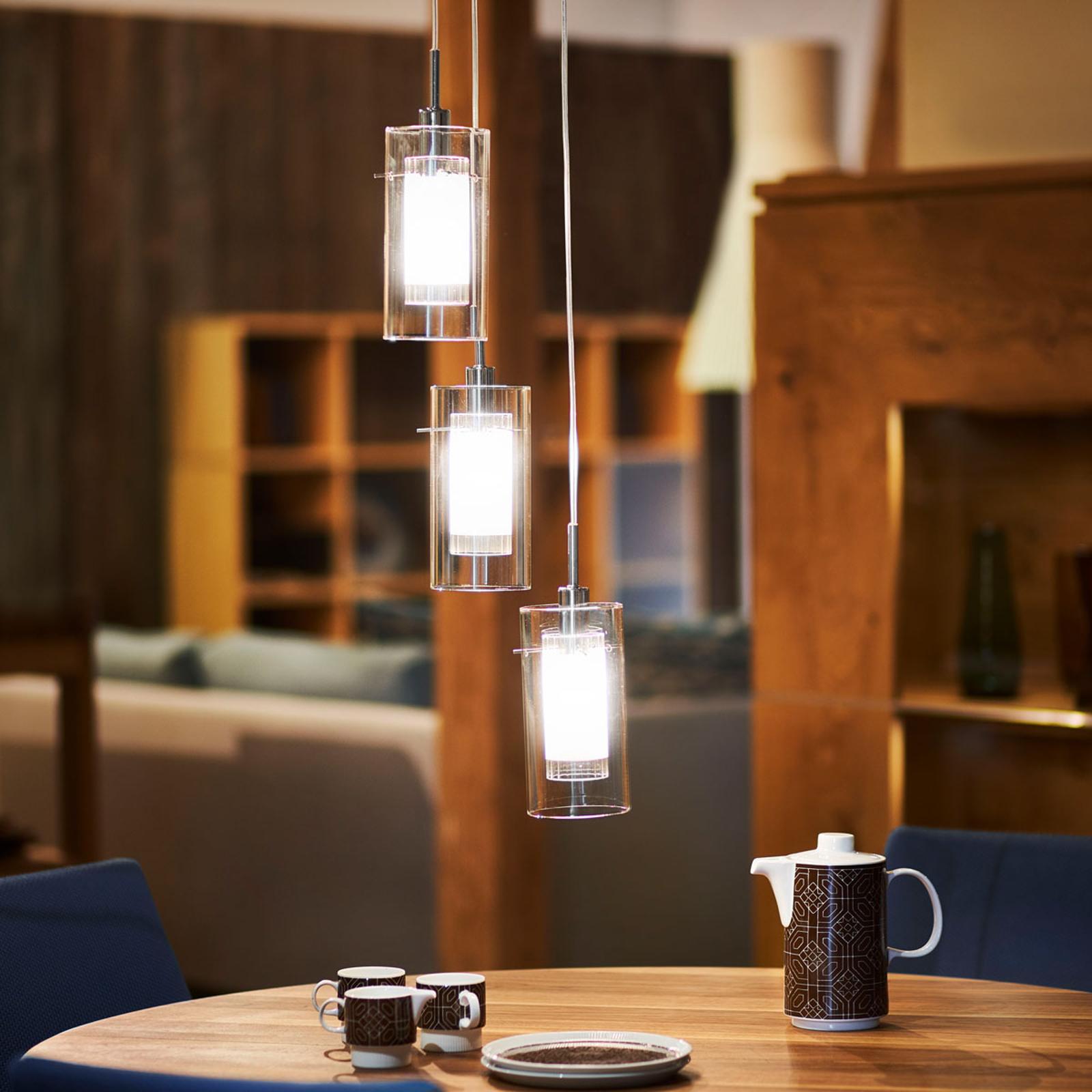 Lampa wisząca Duo 1, okrągła, 3-punktowa